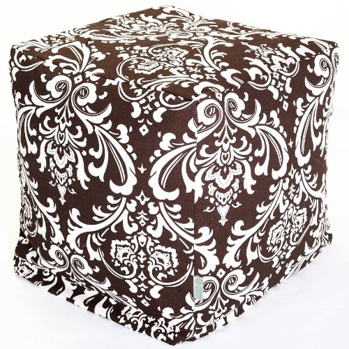 Majestic Home Goods Chocolate and White French Quarter Cube, Small by Majestic Home Goods
