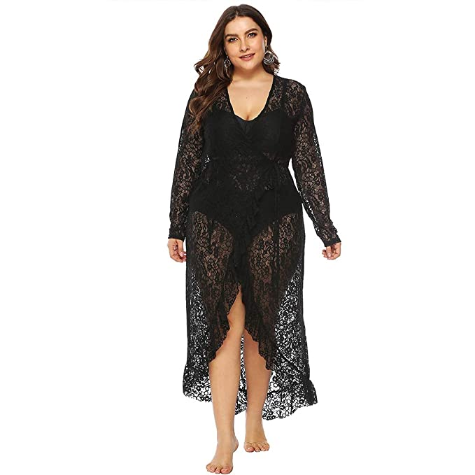 Amazon.com: Carprinass - Vestido de encaje para mujer (talla ...