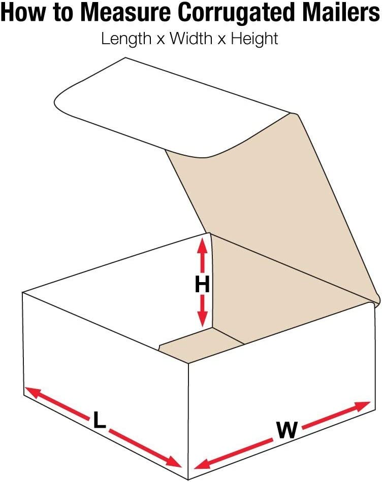 Aviditi M886 Corrugated Mailer 8 Length x 8 Width x 6 Height Oyster White (Bundle of 50) [並行輸入品]
