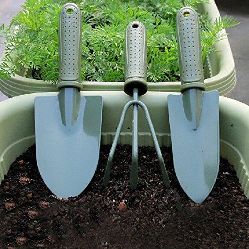 3pcs Gardening Tool Set Shovel Rake Spade Garden Tools