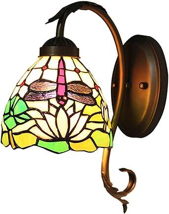 DLewiee Europäische Wandleuchte Lotus Dragonfly warme Farbe ...