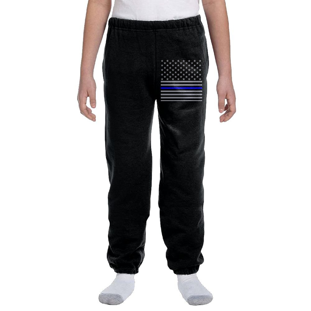 USA Thin Blue Line Flag American Flag Fashion Durable Unisex Sweatpants For hobbledehoy by LuckStarKID