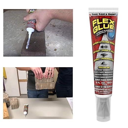 fgcnfdhdfghdfh Adhesivo Impermeable Resistente al Pegamento Flex Glue con Agarre instantáneo Fórmula Pro Resistente a los Rayos UV para reparación de Sellos ...