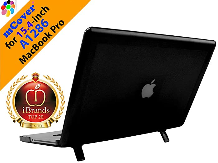 "iPearl mCover Hard Shell Case with Free Keyboard Cover for 15"" Model A1286 Aluminum Unibody MacBook Pro (Black Keys, 15.4-inch Diagonal Regular Display) - Black"
