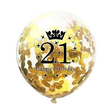 Amazon.com: gbell oro decoraciones de confeti, globos de ...
