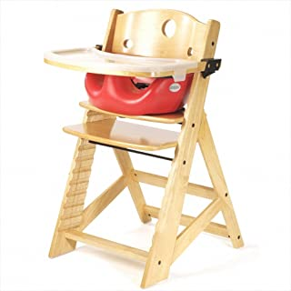 product image for Keekaroo Height Right High Chair, Infant Insert and Tray Combo, Natural/Cherry, ONE Size (0051401KR-0002)