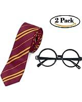 Accesorios de Harry Potter; novedosas gafas y corbata, ideales como regalo de Navidad