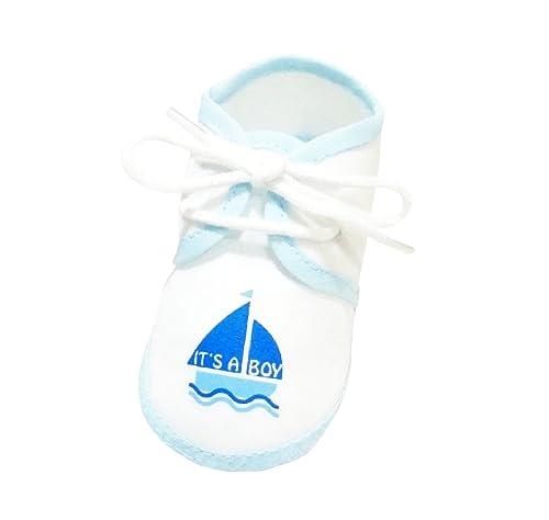 """Lace Up Botines Zapatos de bebé niño """"it s a Boy"""" 0 –"""
