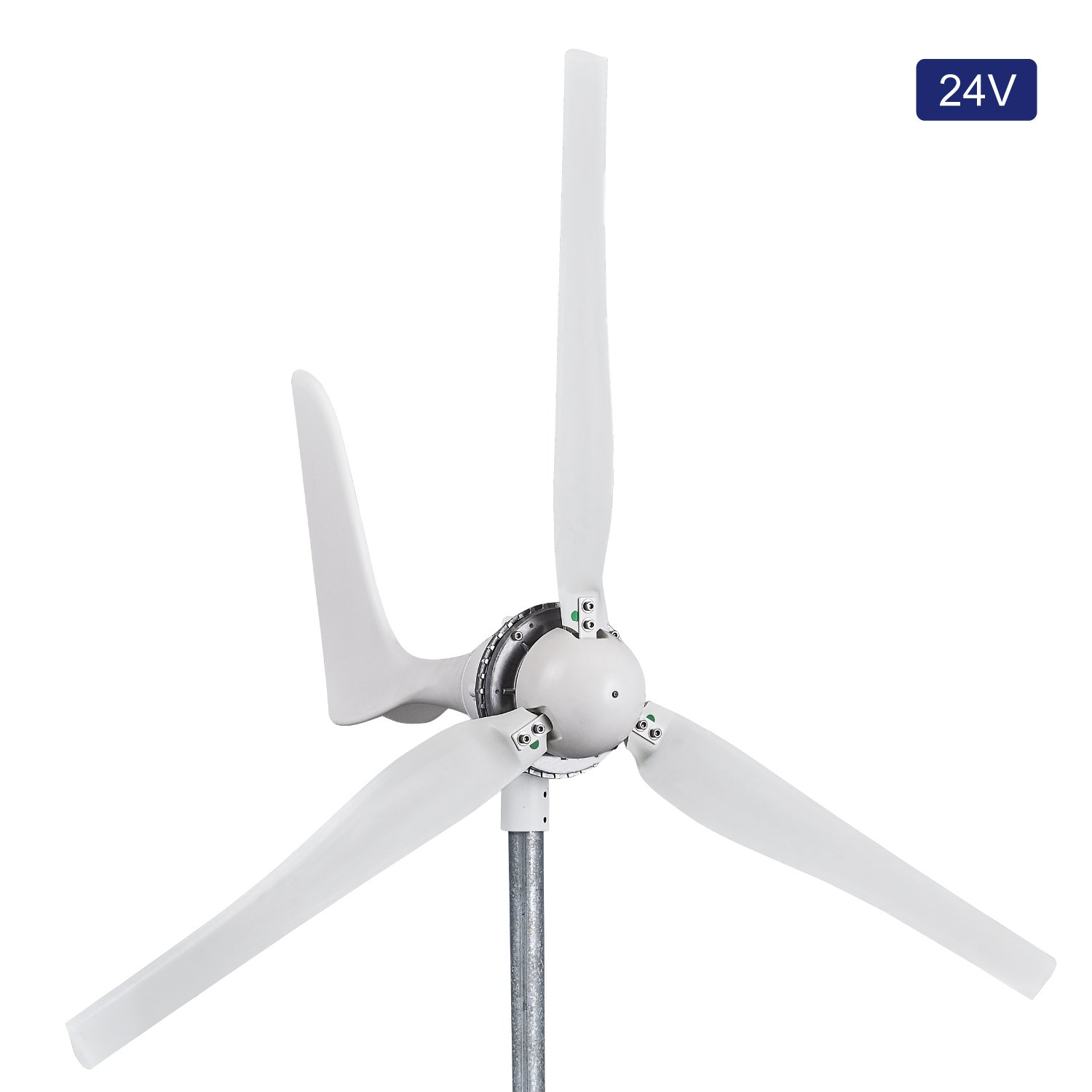 Amazon.com : Automaxx Windmill 1200W 24V 42A Wind Turbine Generator kit.  MPPT Charge Controller Included (Amp, Volt & Watt Display) + Automatic and  Manual ...