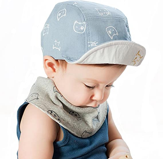 Baby Kids Cartoon Rabbit Hats Infant Toddler Caps for Boys Girls Cotton Baseball Cap Mesh Cute Peaked Caps Adjustable Summer Spring Windproof Head Wear Gift for 6-18 Months