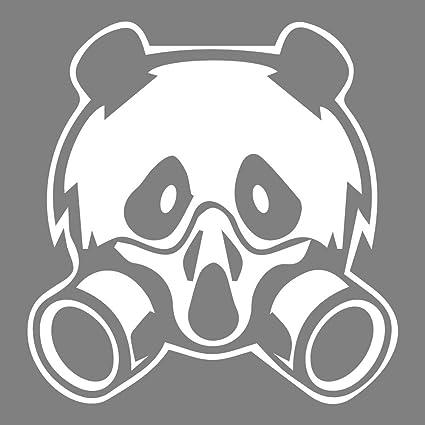 azutura Historieta de la máscara del Panda y del Gas Gracioso Animales Salvajes Vinilos Inicio Art