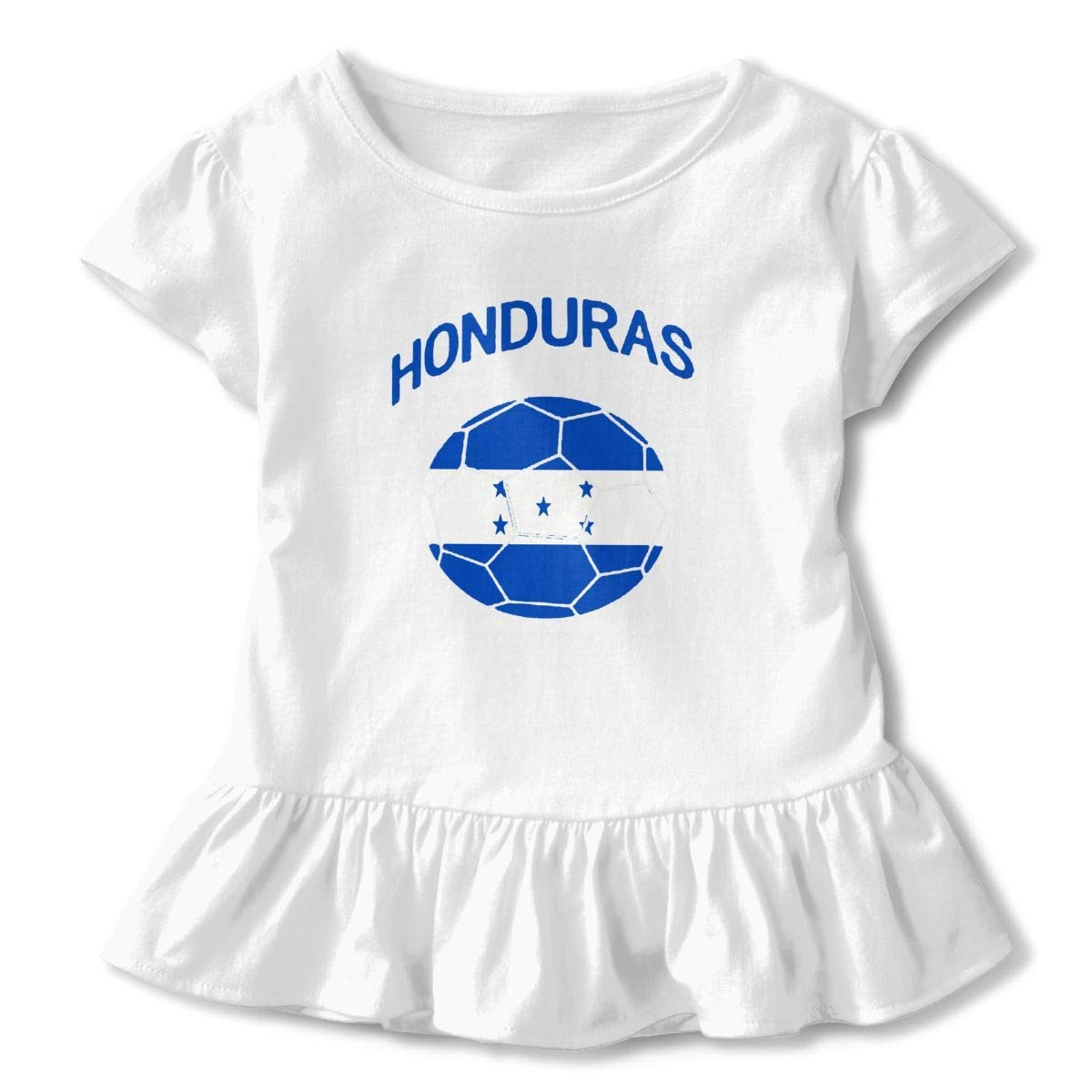 Kid T Shirt Honduras Soccer 3D Tee Baseball Ruffle Short Sleeve Cotton Shirts Top for Girls Kids