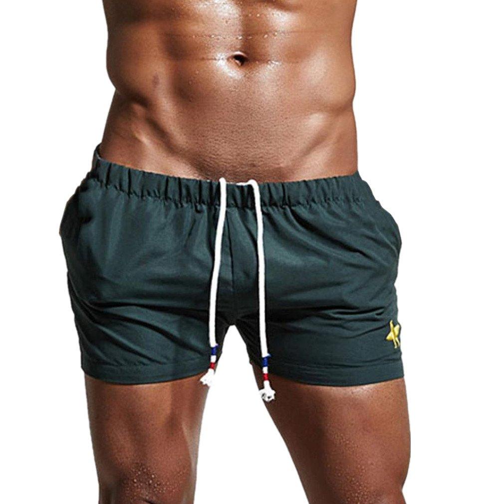 Bañadores de Natación Hombre ✔LuckyGirls Calzoncillos Cortos para Hombre Color Sólido Secado Rápido Boxers Playa Surf… HceVtw1nBp