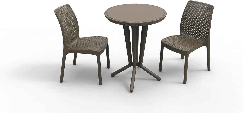 Keter 17197990 - Set de mesa y silla de exterior, color marrón ...
