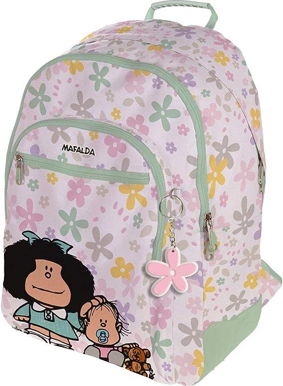 Mafalda 37500155 Colección Mafalda Mochila Escolar, 3 Compartimentos Principales, Bolsillo Exterior, Modelo Belly Button, 33 x 45 x 22.5 cm: Amazon.es: Equipaje
