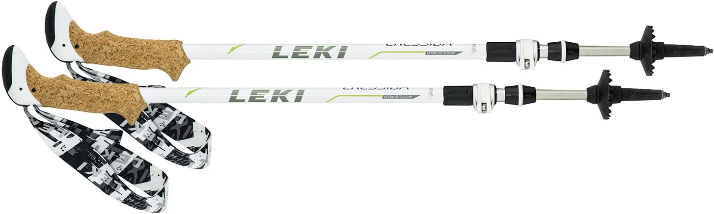 LEKI(レキ) 登山 トレッキングポール レディース ダブル SPD2クレシダ AS ホワイト 1300329