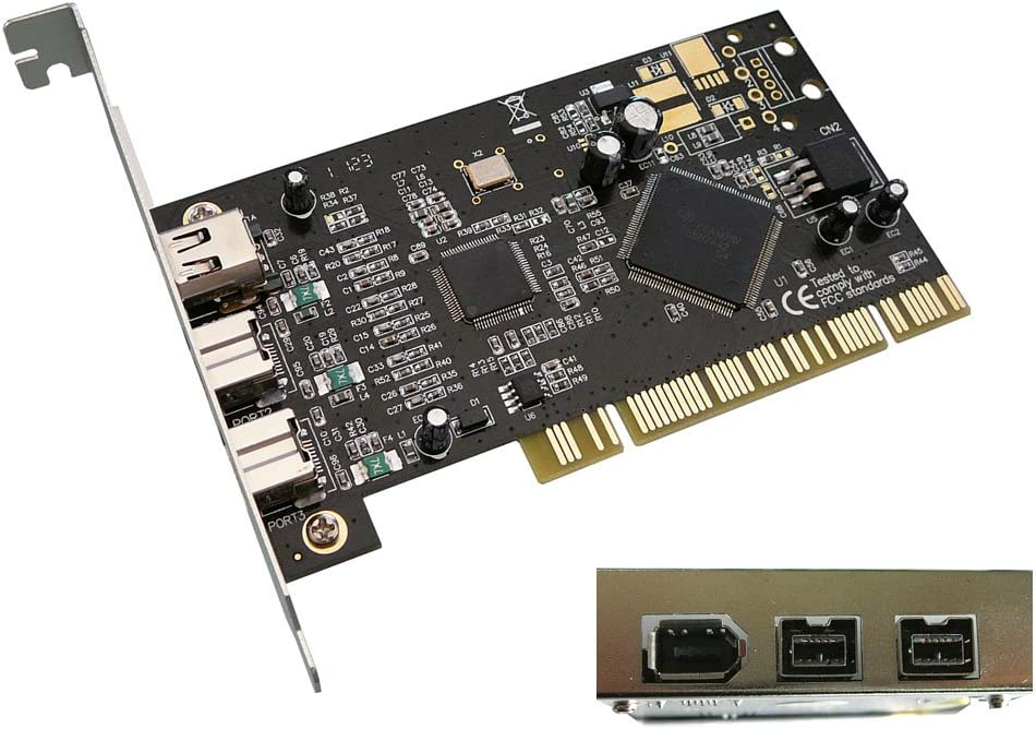 Pci Firewire 400 And 800 Card Ieee1394a Ieee1394b Texas Instruments Ti Chipset Amazon Co Uk Computers Accessories
