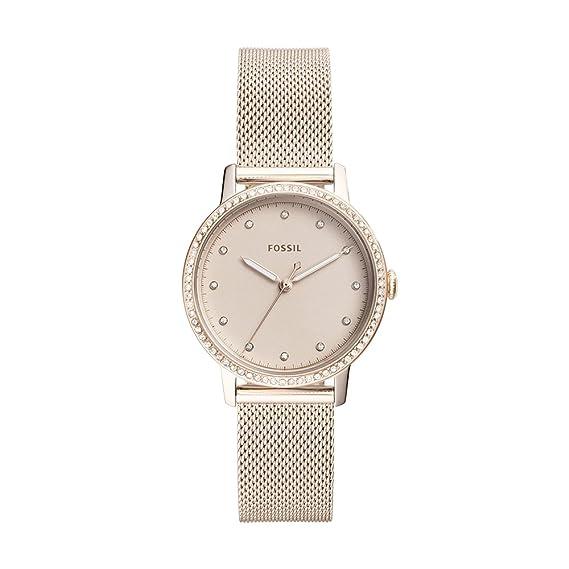 Fossil Reloj Analogico para Mujer de Cuarzo con Correa en Acero Inoxidable ES4364: Amazon.es: Relojes