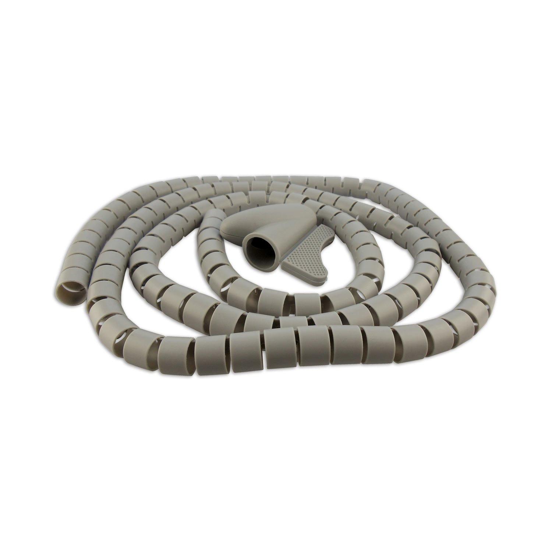 Schwaiger KBSL28041 Gaine de câ bles spirale/flexible 1, 5 m Gris KBSL28 041 Gaine de câble