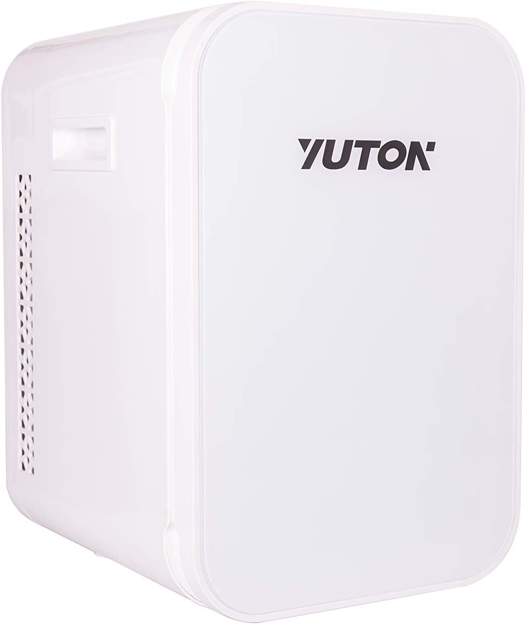 YUTON White Mini Portable Fridge 22Liter Skincare Fridge - Thermoelectirc Cooler and Warmer-Heater for Car, Office, Bedroom, Cosmetics, Meducations, Breastmilk with 110V AC/ 12V DC