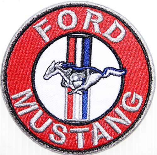 - FORD MUSTANG Logo Sign Car Racing Patch Iron on Applique Embroidered T shirt Jacket BY SURAPAN