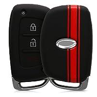 kwmobile Cover chiave auto Hyundai Kia - Guscio protettivo coprichiave in morbido silicone TPU - Custodia per chiave Hyundai Kia con 3 tasti Keyless Go