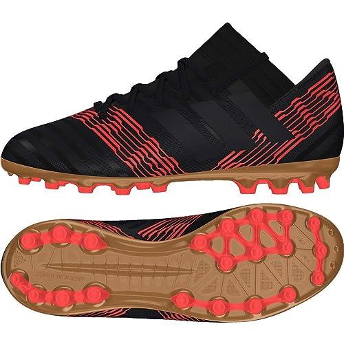 huge discount c17e6 bffc3 Adidas Nemeziz 17.3 AG J, Botas de Fútbol Unisex Niño, Negro (Negbas