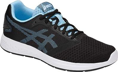 the best attitude 380ff 0b800 ASICS Patriot 10 Women s Running Shoe, Black Skylight, 5 B(M)