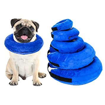 merymall Collar Hinchable para Perros pequeños y Grandes, cómodo ...