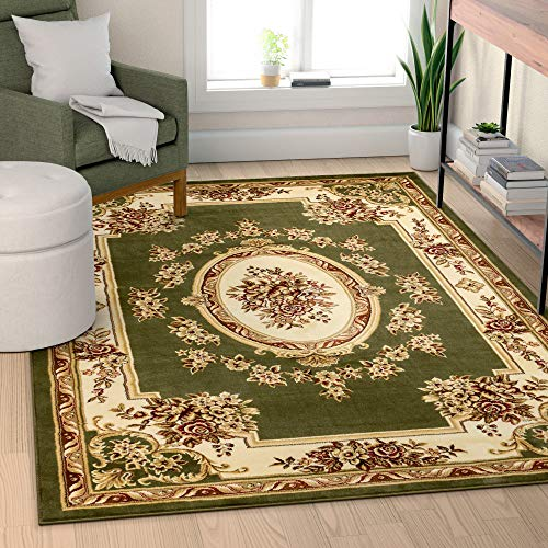 Well Woven 36355 Timeless Le Petit Palais Traditional Medallion Green Area Rug 5'3