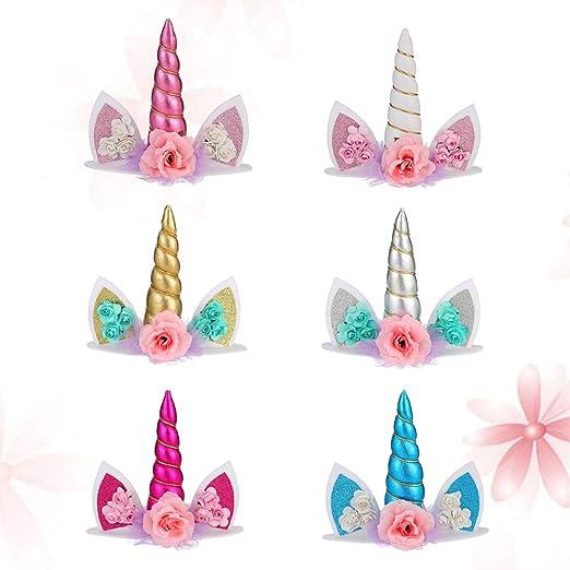 Toyandona - 6 piezas de decoración para tarta con diseño de ...