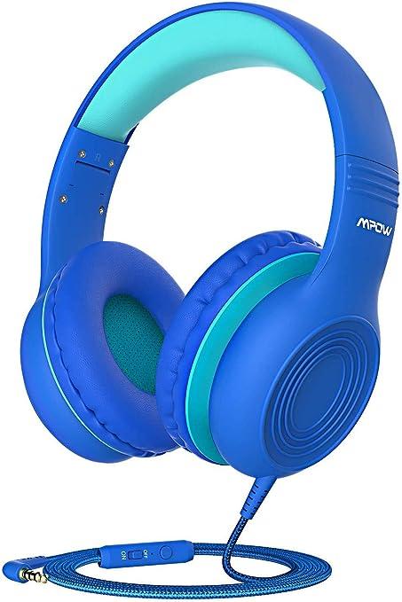 Cuffie per bambini, Mpow CH6, limite di volume di 85 dB, Cuffie con filo sulle orecchie Cuffie con microfono da 3,5 mm per bambini Ragazze e ragazzi,