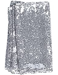 Lingu0027s Moment Sparkly Sequin Table Runner Silver 12 X 108 Inch (Hem Edge)  For Wedding Engagement Party Bridal Baby Shower Dresser Christmas  Centerpieces ...