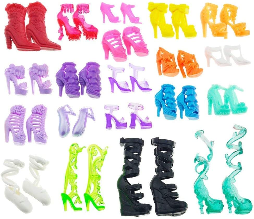 10 Pairs  Shoes Party Dress Doll Shoes  Dolls Accessories Gift TEcyUNUS