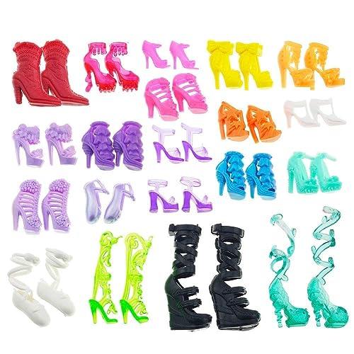Asiv 60 Paires de Chaussures pour Poupée Barbie, Style Différent Chaussure et Bottes Accessoires pour Barbie Fashionistas (Au Hasard)