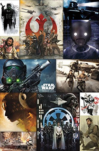 Trends International Star Wars Rogue One Collage Wall Poster 22.375