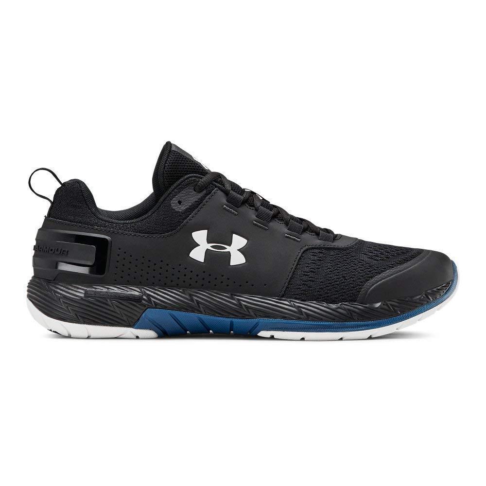 Under Armour Men's Commit TR EX Sneaker Black (008)/Petrol Blue 7 M US by Under Armour (Image #1)