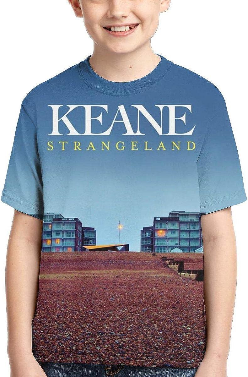 BowersJ Kids Keane Strangeland Design 3D Printed Short Sleeve T-Shirt for Girls /& Boys Black