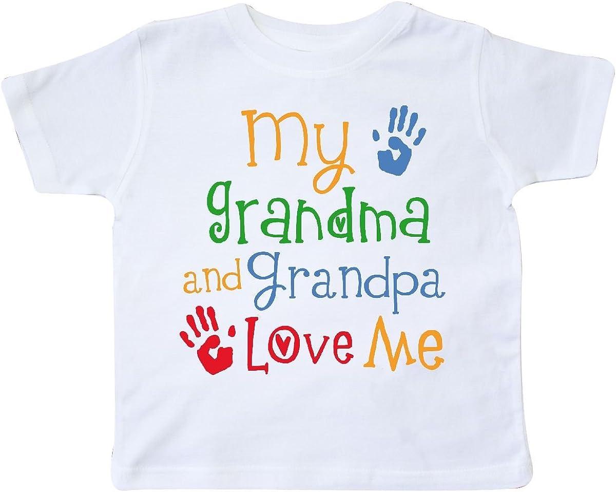 inktastic My Grandma and Grandpa Love Me Toddler T-Shirt