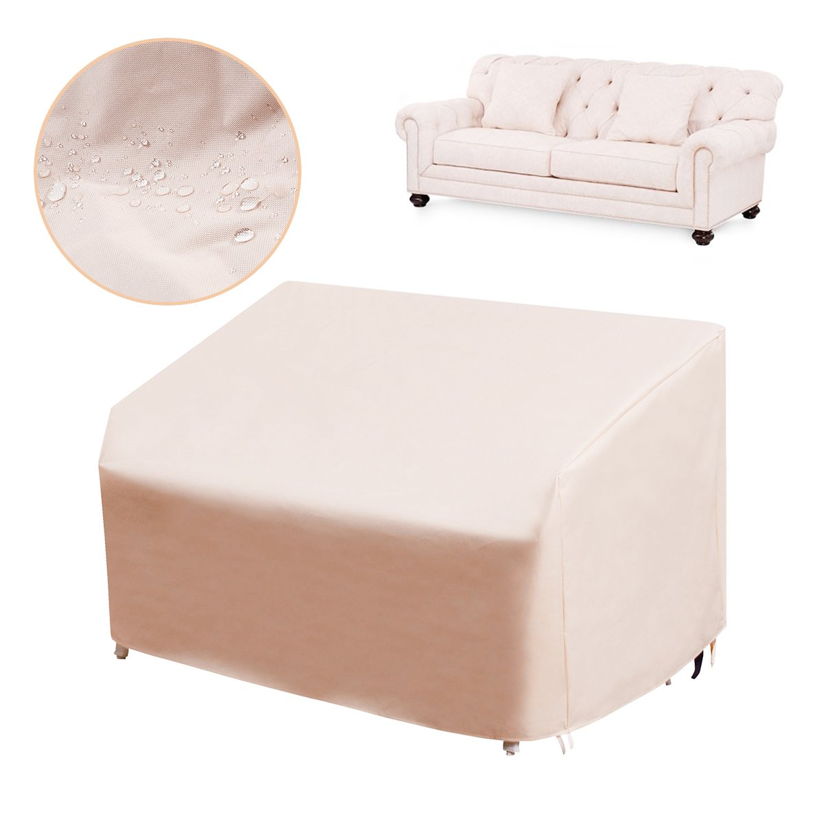 dDanke Furniture dust cover Protective Covers Wicker/Rattan Sofa Cover Protection Outdoor, 85''x43''x40''