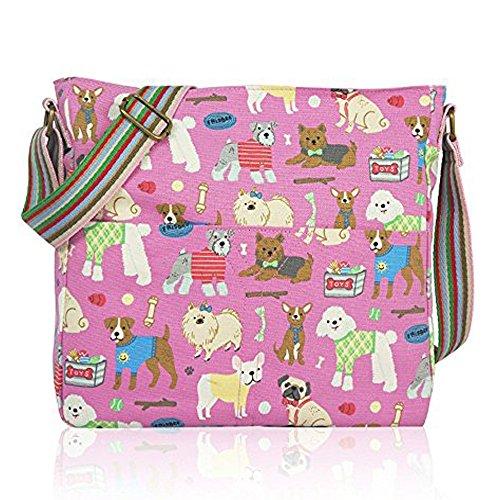 Hb Taille Femme Pour StyleSac Mixdog Unique pink Bandoulière Bleu 3ARj54LqcS