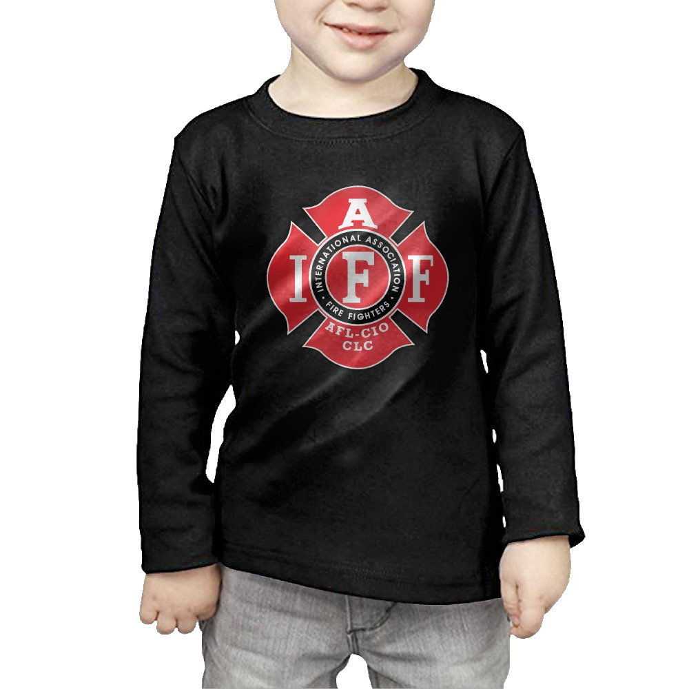 Unisex Fire Fighters International Association IAFF Red AFL Union Infant T Shirt Baby Clothes