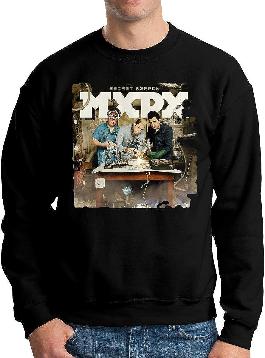 Wanjirong Mens Sweatshirts MxPx Print Long Sleeve Shirt