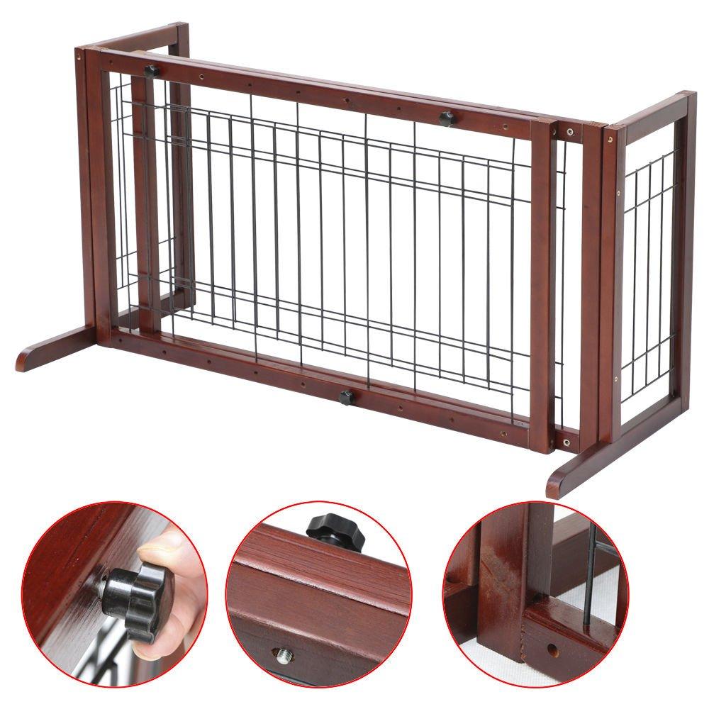 Tek Widget Adjustable Free Standing Indoor Dog Wood Gate/Fence by Tek Widget (Image #7)