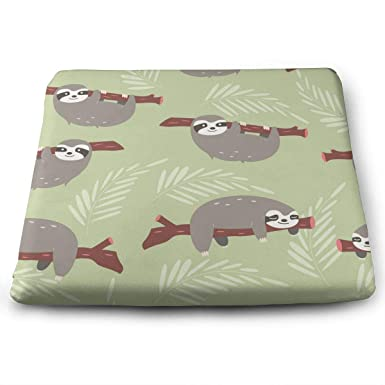 Seat Cushion For Office Chair, Square Seat Cushion Pad With Sloths Pattern  Dirt Bike Motocross