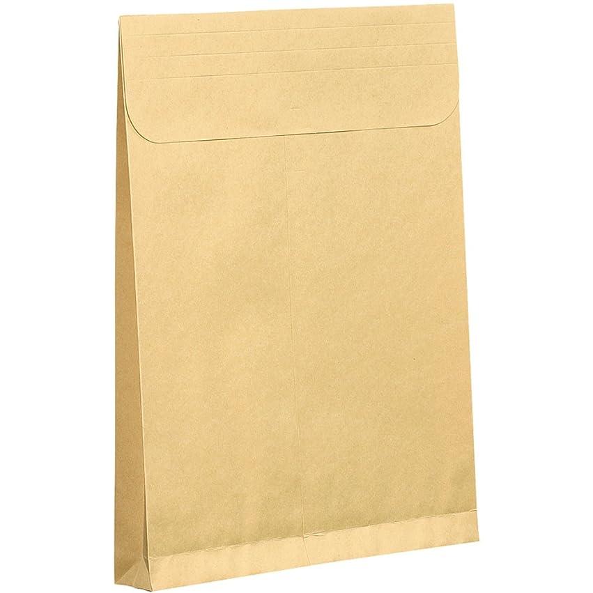 保護する影響テンポ宅配袋 大 Lサイズ 100袋 テープ付き クラフト 無地 [宅急便 紙袋 角底袋 角底 袋 梱包資材 梱包] 大手運送会社と同サイズ (たて)400×(よこ)320×(マチ)115mm bagL