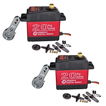 2x LewanSoul LD-20MG Metal Gear Standard Digital Servo with 20kg High Torque