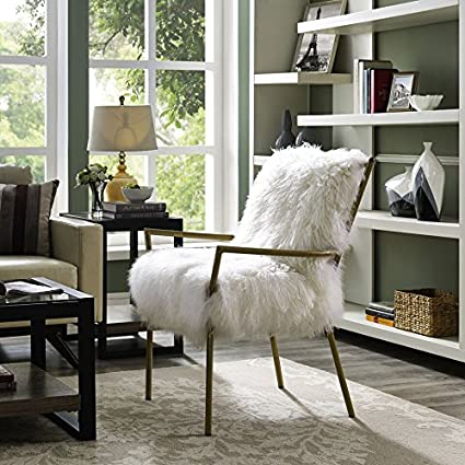 Amazon Com Tov Furniture Lena Sheepskin Chair Kitchen Dining