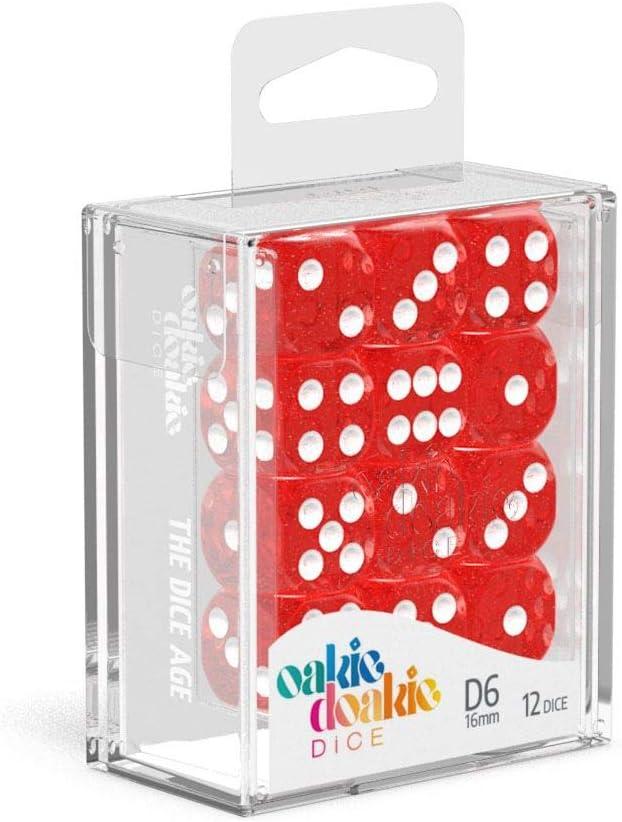 16mm Dice Oakie Doakie Dice ODD410017 D6 Red