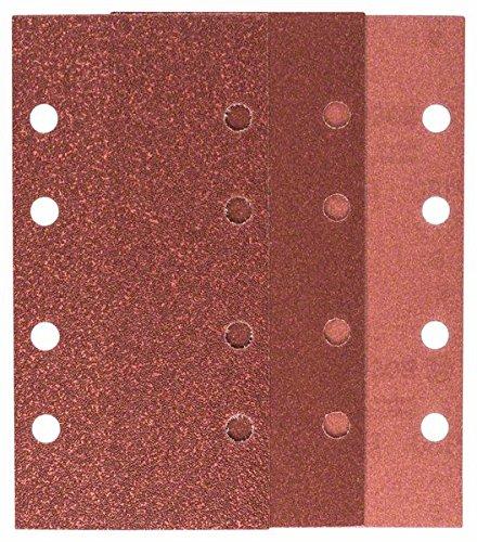 Bosch 2 609 256 A86 Juego de hojas de lija de 10 piezas para lijadora orbital